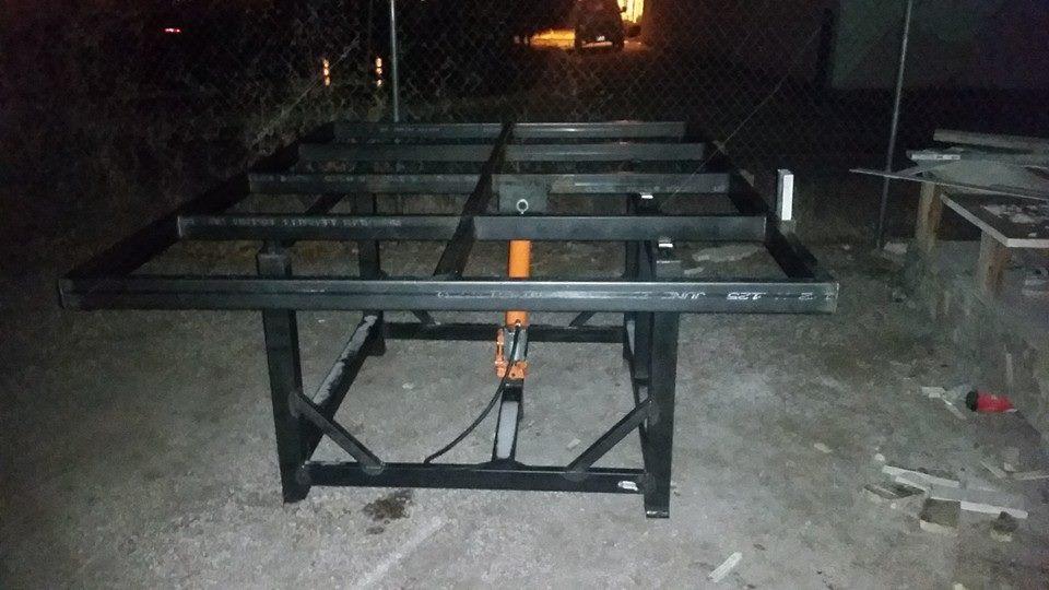 Sg 8t Hydraulic Pneumatic Granite Tilting Table